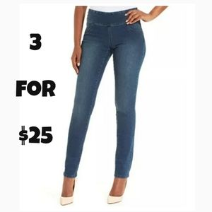 Style & Co. Petite Blue Denim Curvy Jeggings PM